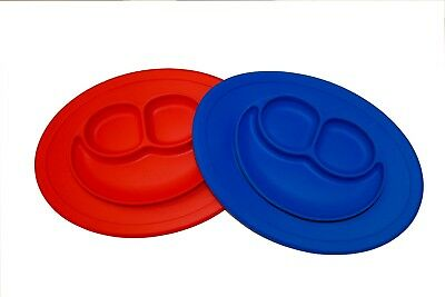 New baby Happy silicone plate with Suction,One piece silicone placemat plate,kid