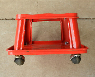 Workshop Mechanic Floor Roller Stool Seat with Tool Tray
