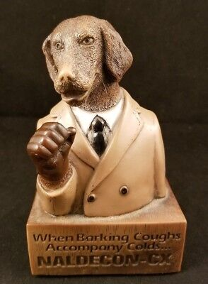 "Advertising Dog In Suit Statue Naldecon-CX ""When Barking Coughs Accompany Colds"""
