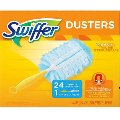 Swiffer Duster 1 Handle Plus 24 Refills - Dusting Kit - Clean dust with Ease !