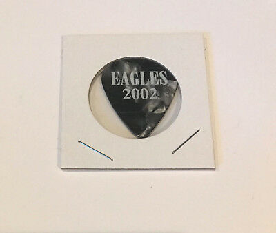 The Eagles - Steuart Smith 2002 Tour Guitar Pick Pearl Black Henley Frey Walsh