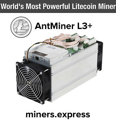 Bitmain AntMiner Litcoin L3+ 504MH/s ASIC Miner Not S9 +PSU (March Shipment)