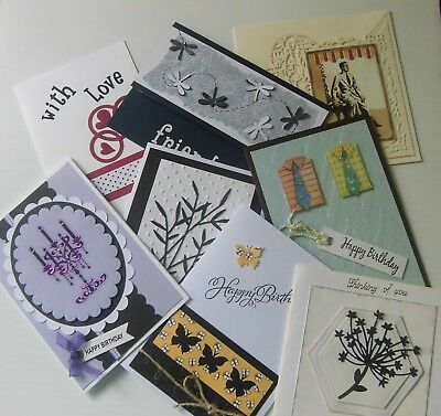 Handmade Greeting Card x 1, Choice of 8 designs - Mixed gender and occasion