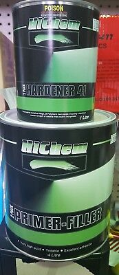 HiChem 2 PACK PRIMER-FILLER GREY Automotive 4L + 2 PACK HARDENER 41 1L