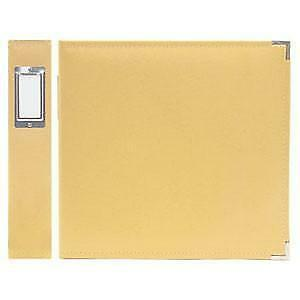 We R Memory Keepers - Classic Leather 12In X 12In Three Ring Album - Buttercup