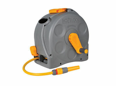 HOZELOCK 2 in1 Compact 25m Hose Reel Portable or Wall mounted w/ Included Acc
