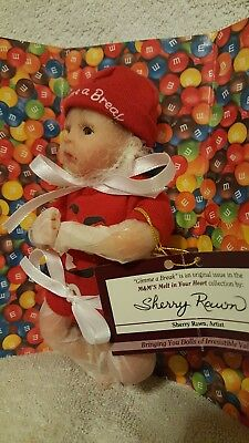 """M&M """"Gimme A Break"""" Doll from The Ashton-Drake Galleries with Certificate MINT"""