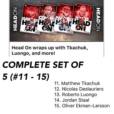 2018 HEAD ON WAVE 3 (#11 - 15) COMPLETE SET OF 5 CARDS Topps NHL Skate Digital