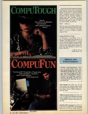 Compuserve Games 1986 2 Page Print Ad