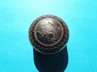 "Antique - Victorian ""Snuff Box"" - Silver? - Cloisonne Top/Lid  -  Snuff/Pill Box"