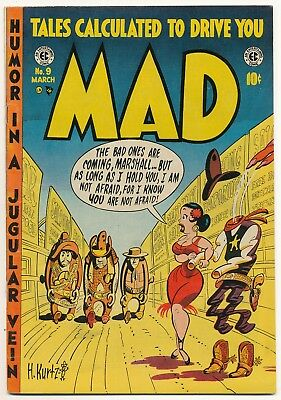 1954 MAD Comic No. 9.  Excellent+++ with writing on one margin.