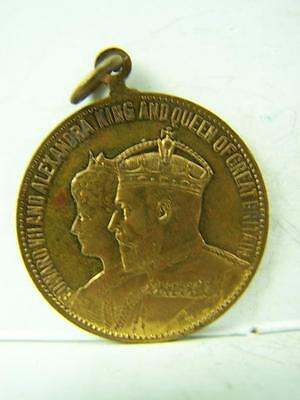 Medallion Coronation celebration Edward VII Alexandra Acton, England 1902    638