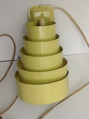 Retro VINTAGE Mid Century Metal Circle RING Wall SCONCE Lamp Sculptural YELLOW