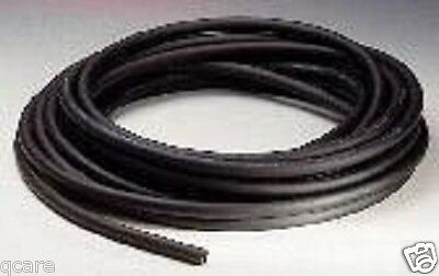 "10 FEET OF 1/8"" I.D x 1/8""w x 3/8"" O.D LATEX  RUBBER TUBING BLACK HEAVY DUTY"