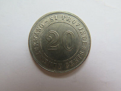 c1920s CHINA KWANG-SI PROVINCE 20 Cents SILVER COIN in EXCELLENT CONDITION