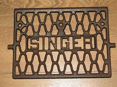 Antique Singer Sewing Cabinet Foot Pedal Cast Iron