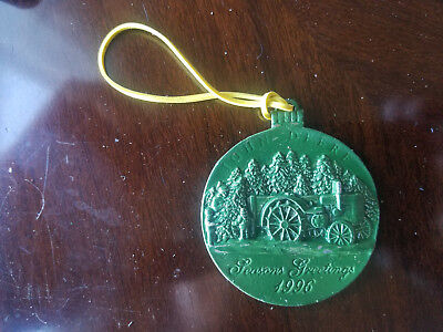JOHN DEERE 1996 PEWTER CHRISTMAS ORNAMENT GREEN very strange situation...
