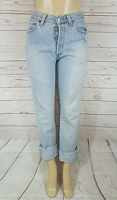 Vintage  Women's Levi's 501 Button Fly Hi Waisted Jeans Size 29 X 32.5