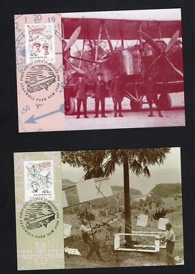 Australia Maxi/Postal Cards 1994 Aviation Feats Set of 4