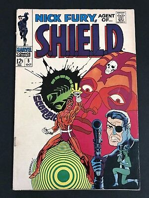 Nick Fury Agent of Shield #5 CLASSIC Steranko 1st Print VG/FN