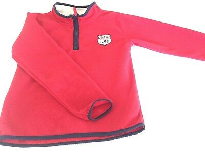 Boys Urban Polar Fleece Jumper - Red- Size 9 - Excellent Condition