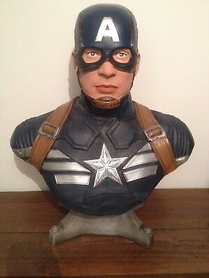 CAPTAIN AMERICA WINTER SOLDIER  Life Size Bust 1:1 VERY NICE - NOT Sideshow VGC