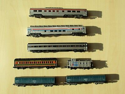 N scale Freight Waggons, Passenger Coaches, Observation Cars