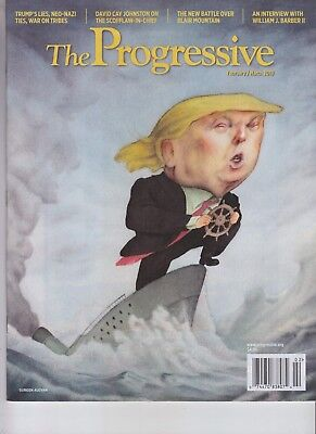 Donald Trump The Progressive Magazine Feb 2018 No Label