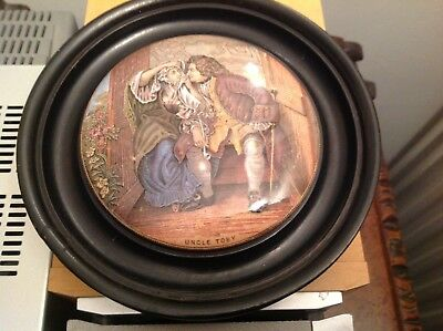 Uncle Toby pot lid in wooden frame