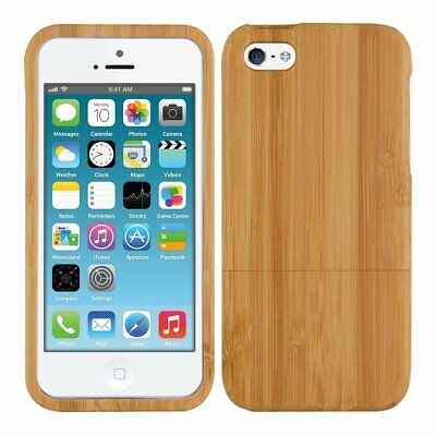 Natural Wooden Wood Bamboo Hard Case for i Phone X/10/8/5/5c/SE/6/6s/7/Plus new