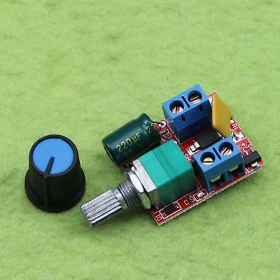 Mini DC 5A Motor PWM Speed Controller 3-35V Speed Control Switch LED Dimm ooll