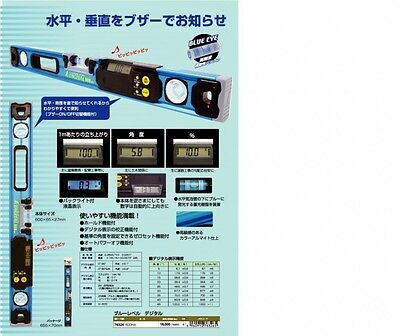 Shinwa Rules Blue Level Digital 600mm 76326 Brand New Best Buy from Japan