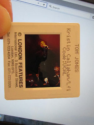 Original Press Promo Slide Negative - Tom Jones - 1990's