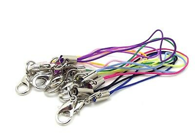 10 x MOBILE PHONE CORD STRAP LARIAT LOBSTER CLASP BAG CHARM JEWELLERY MAKING