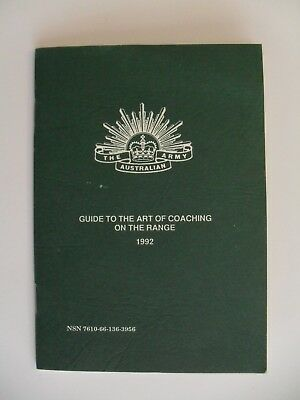 Australian Army Training Booklet Guide To The Art Of Coaching On The Range 1992
