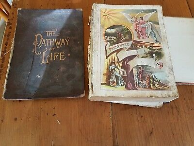 Antique Book, The Pathway of Life by James Baker M.A. published in 1889