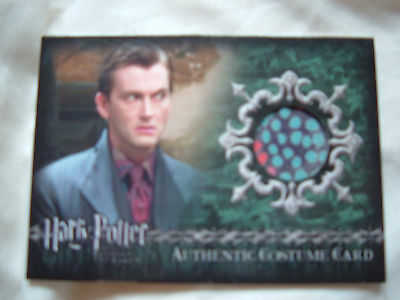 Harry Potter David Tennant Barty Crouch Jr Authentic costume card C11 164/800