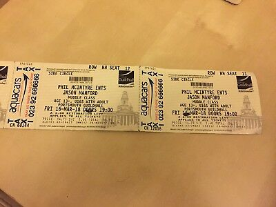 Jason Manford Tickets X2 Portsmouth 16th March