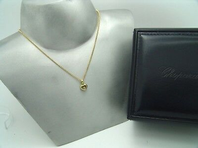 Original CHOPARD Happy Diamonds Collier 18K Gold mit Diamant 794854-0001 + Box