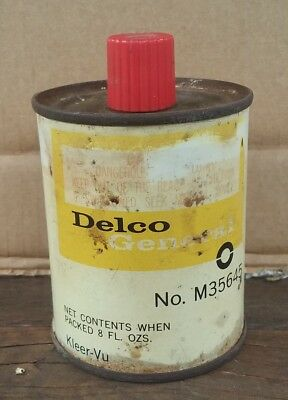 Old Nasco Delco Kleer Vu Windscreen Cleaner Tin For Gmh Holden Late 1960's Nos