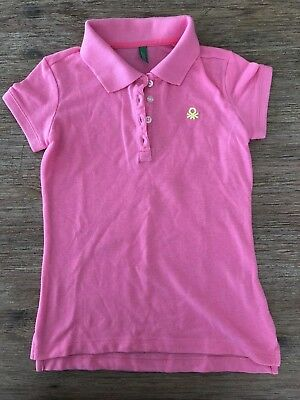 United Colors Of Benetton Kinder Shirt Gr 130 cm POLO Kurzarm Pink