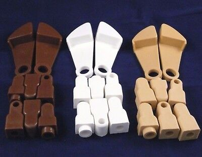 gravity catches/latches and/or fittings for drop side cots Brown White or Pine