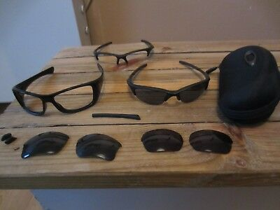 Oakley Sunglasses Bundle Three Pairs Hard Case And Lenses
