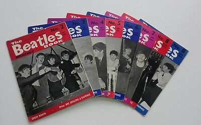The Beatles Monthly Book Original Issues 2-9