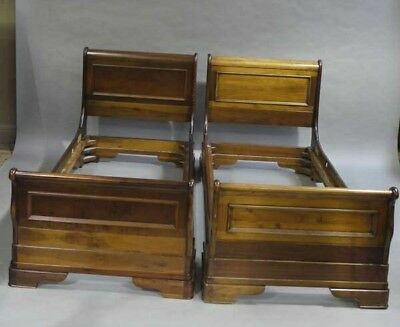 Very Elegant Pair Of French Single Sleigh Beds