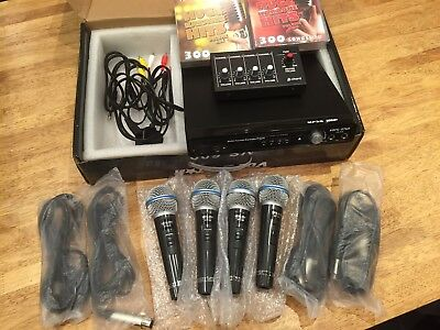 Vocal-Star 600 Wired Quartet Set Karaoki Machine Inc 600 songs