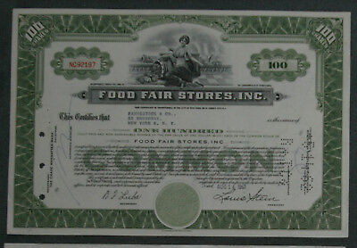 Food Fair Stores, Inc. 1961 100 Shares .