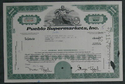 Pueblo Supermatkets, Inc. 1969 100 Shares .