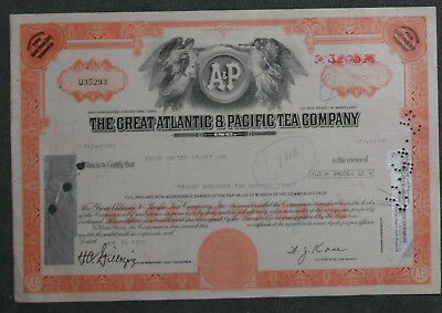 The Great Atlantic & Pacific Tea Company 1976 3205 Share .