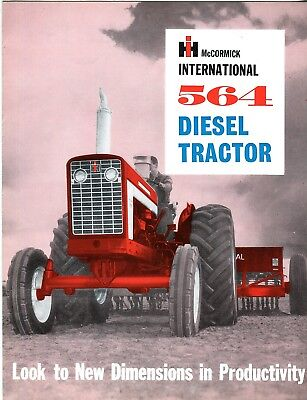 International 564 Diesel Tractor Look to New Dimentions in Productivity sales b